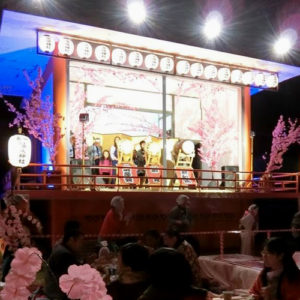 Special Geisha Stage At The Night Cherry Blossom Festival In Kinugawa Onsen Early April