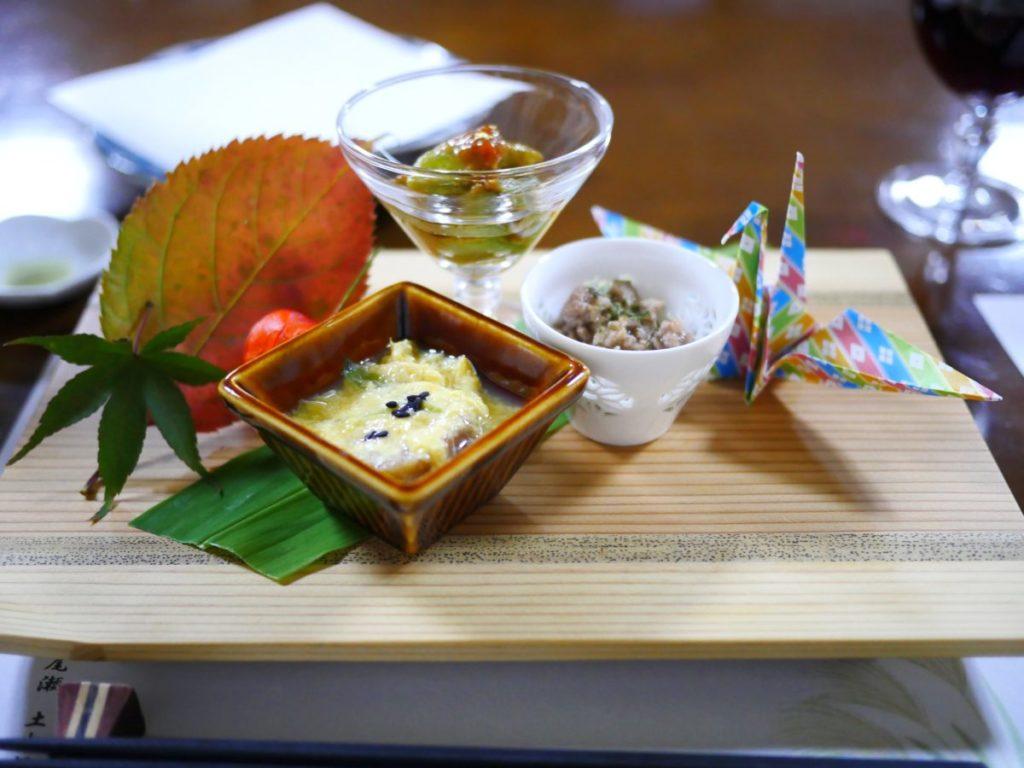 Food (Kaiseki Dinner) at a ryokan in Japan