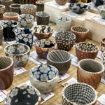 Spring themed Mashiko pottery sake cups to enjoy Japanese sake