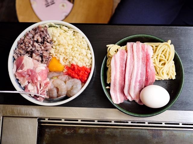 Visiting an okonomiyaki restaurant in Tokyo, Japan