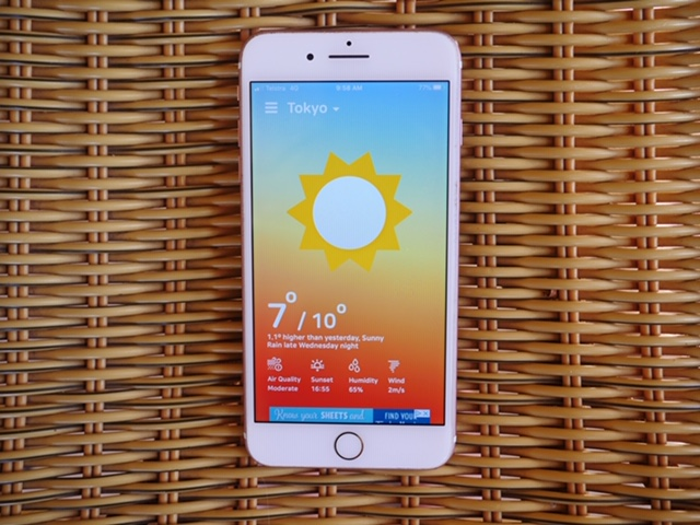 Using What The Weather app in Japan