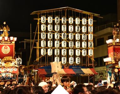 People enjoying the Kumagaya Uchiwa Festival (Kumagaya Uchiwa Matsuri) near Tokyo