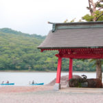 Going for a boat ride in lake Onuma in Akagi mountains