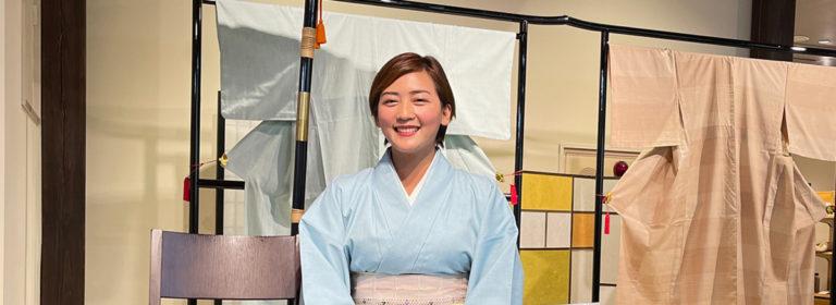 Yuki-tsumugi Silk Kimono Experience in Oyama city